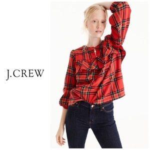 J Crew Fiesta Plaid flannel shirt